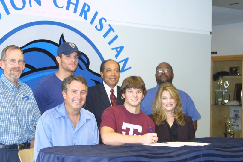 Josh Posten signs with Texas A M