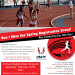 2021 Virtual Registration Session (Spring/Summer Track & Field)