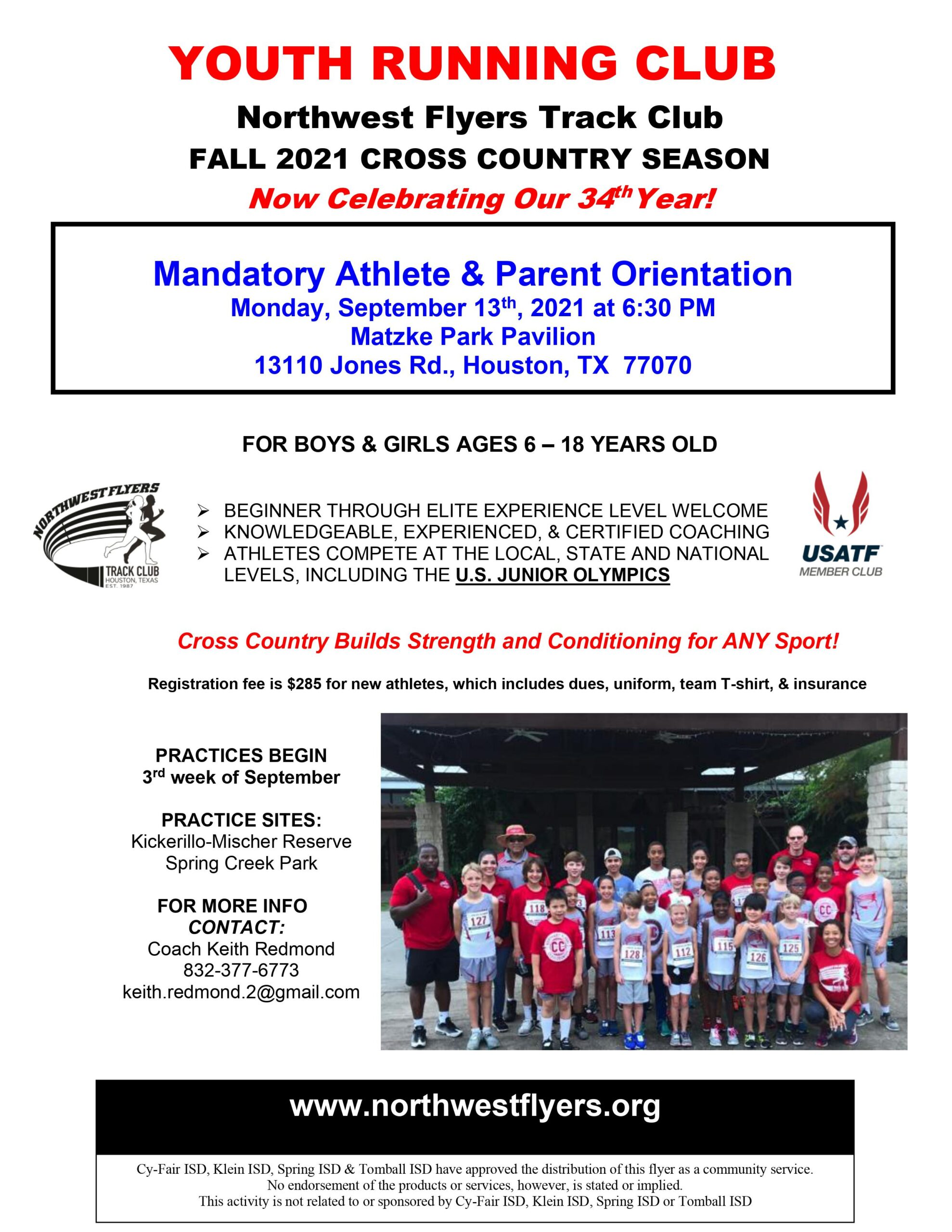 UPDATE: 2021 Cross Country Orientation